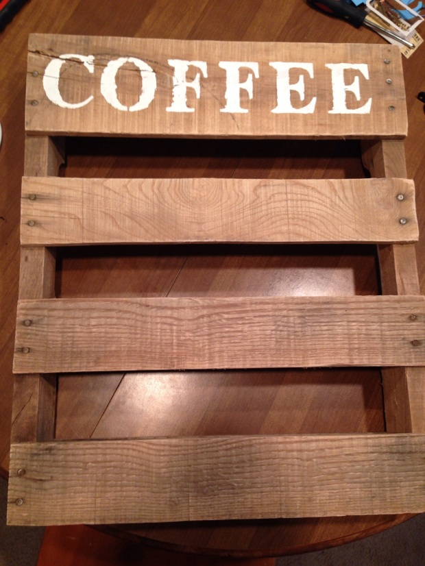 Coffee cup pallet