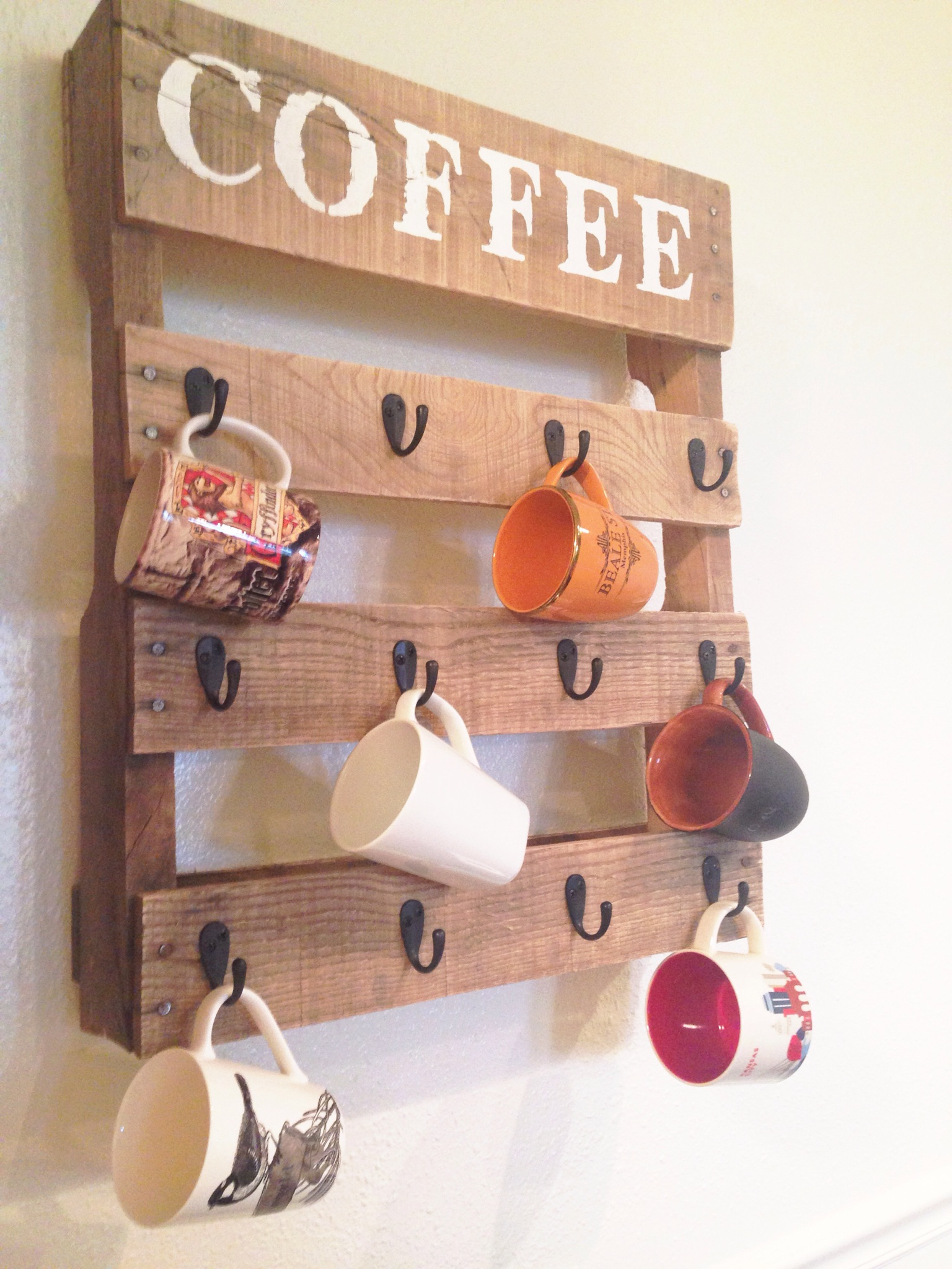 Diy Pallet Coffee Cup Holder One Little Bird Blog