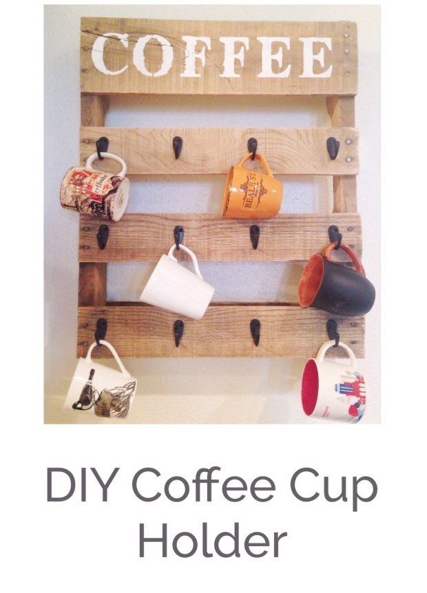 DIY Pallet Coffee Cup Holder